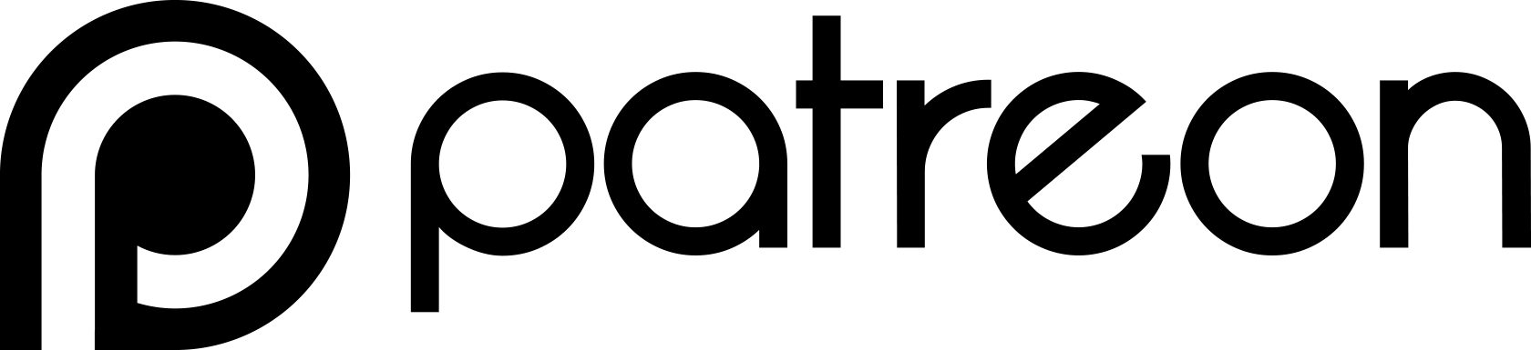 Black Patreon Logo